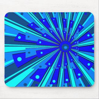 Diseño azul Mousepad Alfombrillas De Raton