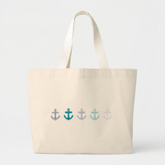 Diseño azul náutico de las anclas bolsa