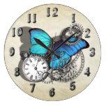 Diseño azul punky del reloj de bolsillo de la mari