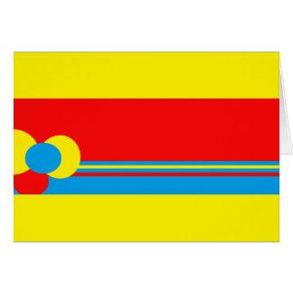 Diseño azul rojo amarillo tarjeta de felicitación