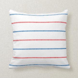 Diseño azul rojo blanco hecho punto del modelo del almohadas
