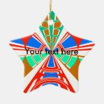 Diseño azul rojo blanco moderno del semicírculo ornamentos de reyes