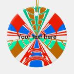 Diseño azul rojo blanco moderno del semicírculo adorno para reyes