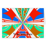 Diseño azul rojo blanco moderno del semicírculo tarjeta