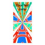 Diseño azul rojo blanco moderno del semicírculo tarjeta publicitaria personalizada