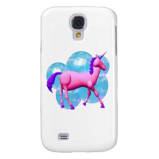 Diseño azul rosado del caballo del unicornio samsung galaxy s4 cover