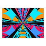 Diseño azul rosado moderno del semicírculo invitación 12,7 x 17,8 cm