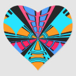 Diseño azul rosado moderno del semicírculo calcomanías corazones personalizadas