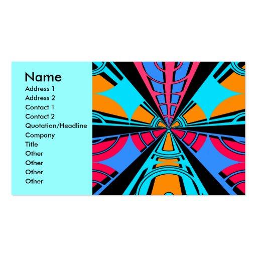 Diseño azul rosado moderno del semicírculo tarjetas de visita