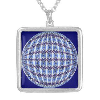 Diseño azul/rosado vibrante del cuadrado del globo colgante cuadrado