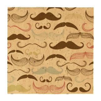 Diseño azul, rosado y de Brown del bigote Posavasos