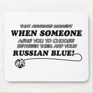 diseño azul ruso alfombrillas de raton