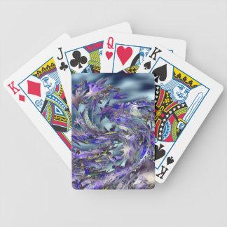 Diseño azul ventoso de las hojas del tornado baraja cartas de poker