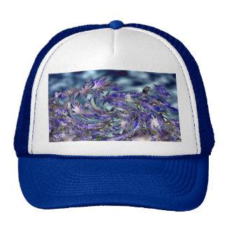 Diseño azul ventoso de las hojas del tornado gorra