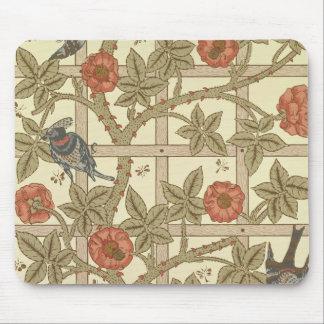 Diseño azul y anaranjado del papel pintado del enr alfombrillas de ratón