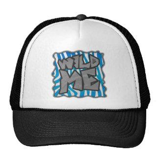 Diseño azul y blanco de la silueta de la cebra gorras