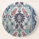 Diseño azul y blanco del vintage del otomano de la posavasos diseño