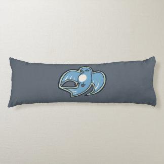 Diseño azul y blanco dulce del dibujo de la tinta almohada