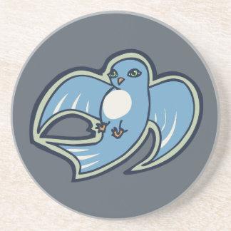 Diseño azul y blanco dulce del dibujo de la tinta apoyavasos