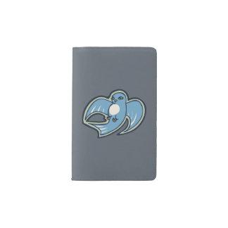 Diseño azul y blanco dulce del dibujo de la tinta funda para libreta y libreta pequeña moleskine