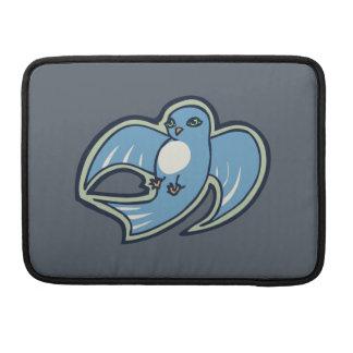 Diseño azul y blanco dulce del dibujo de la tinta fundas macbook pro