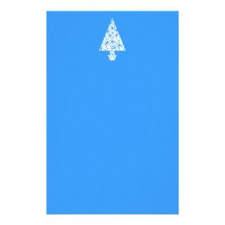 Diseño azul y blanco elegante del árbol de navidad papelería personalizada