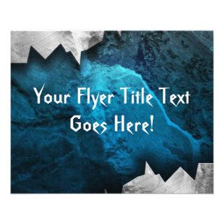 Diseño azul y de plata del metal/de la piedra del tarjeta publicitaria