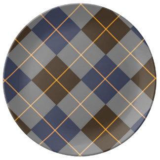 Diseño azul y gris de Argyle
