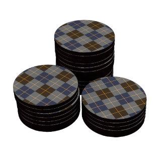 Diseño azul y gris de Argyle Juego De Fichas De Póquer