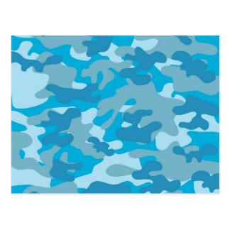 Diseño azul y gris de Camo Tarjetas Postales