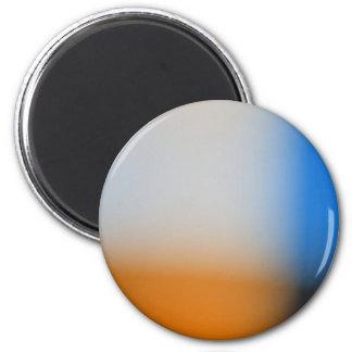 Diseño azul y marrón de la falta de definición lig imán redondo 5 cm