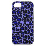 Diseño azul y negro del estampado leopardo iPhone 5 carcasa
