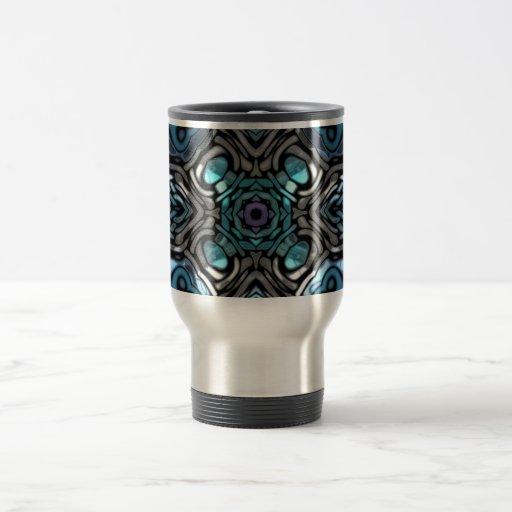 Diseño azul y negro hermoso del embutido tazas de café