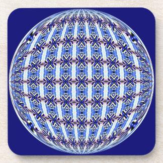 Diseño azul y rosado vibrante del globo del modelo posavaso