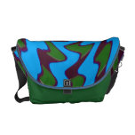 diseño azulverde maravilloso bolsa de mensajeria