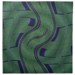 diseño azulverde moderno servilleta