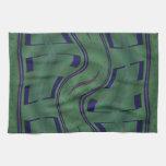 diseño azulverde moderno toallas
