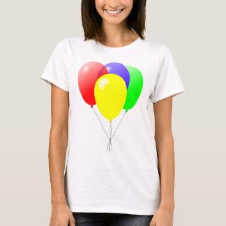 Diseño azulverde y amarillo rojo de los globos playera