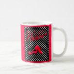 diseño baile flamenco, moderno, colores vivos. taza