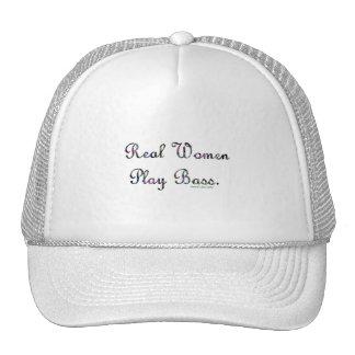 Diseño bajo del texto del juego de las mujeres rea gorra