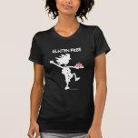 Diseño banal Gluten-Libre de la silueta Camisetas