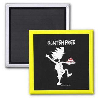 Diseño banal Gluten-Libre de la silueta Imán Cuadrado