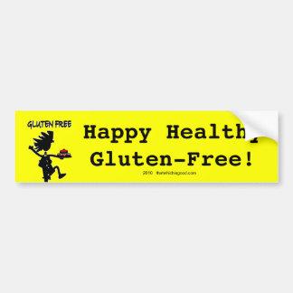 Diseño banal Gluten-Libre de la silueta Pegatina Para Auto
