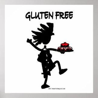 Diseño banal Gluten-Libre de la silueta Póster