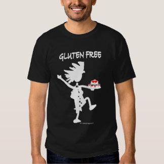 Diseño banal Gluten-Libre de la silueta Remera