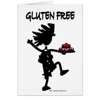 Diseño banal Gluten-Libre de la silueta Tarjeta De Felicitación