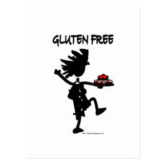 Diseño banal Gluten-Libre de la silueta Postal