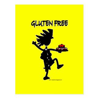 Diseño banal Gluten-Libre de la silueta Tarjeta Postal