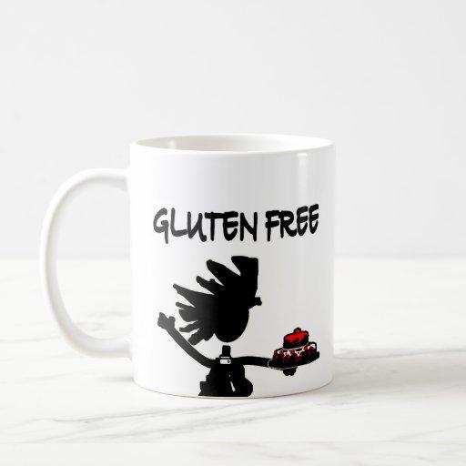 Diseño banal Gluten-Libre de la silueta Taza