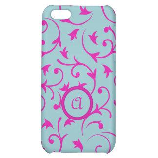 Diseño barroco con rosa personalizado y el azul de
